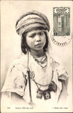 Ansichtskarte / Postkarte Jeune fille du sud, Portrait von einem jungen Mädchen, Maghreb