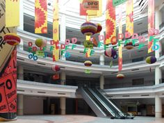 Semi-abandoned~The New South China Mall. More than twice the size of the  Mall of America, the largest shopping center in the U.S., it measures over 5 million square feet, with 2,350 stories. There is an outdoor plaza with palm trees, flanked by long canals and now-empty gondolas and giant replicas of the Arc de Triomphe and the Egyptian Sphinx. But it is the inside that is super spooky. While most of the mall is a deserted, a smattering of stores continue to do business.