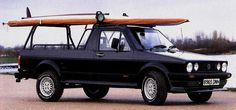 Volkswagen Rabbit Truck...their alot cooler without the surfboard.
