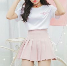 Heart Pretty T-shirt & Strap High Waist Skirt – SYNDROME - Cute Kawaii Harajuku Street Fashion Store Source by outfits street K Fashion, Korean Girl Fashion, Korean Street Fashion, Cute Fashion, Fashion Models, Fashion Outfits, Pastel Fashion, 2000s Fashion, Retro Fashion