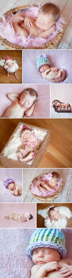 Houston Newborn Portraits - Capture the Dance Photography  Natural light baby girl pictures using props, baskets, blankets