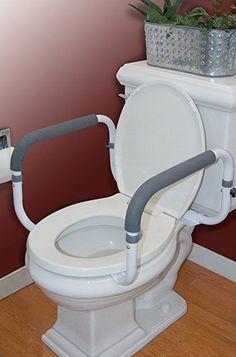 Carex ToiletSupportAssistanceDevice RailsSteel With Adjustable Width  | eBay