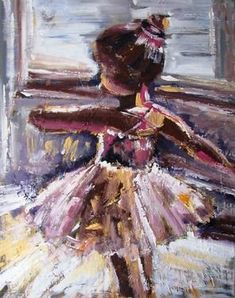 I like how the artist uses the same colors for the entire painting and still is able to make the little ballerinas figure clear Ballerina Painting, Ballerina Art, Ballet Art, Guache, Wow Art, Dance Art, Oeuvre D'art, Painting Inspiration, Amazing Art
