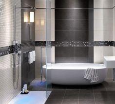 grey shower tile images | modern bathroom grey tile – - contemporary – bathroom tile ...
