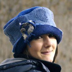 Blue felt  hat nuno felting  French Hat Etsy handmade by jannio, $88.00