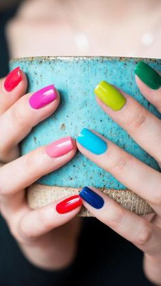 Whether male female cis queer or gender fluid these rainbow nail designs are a chance to explore a world of color. Green Nails, Blue Nails, My Nails, Neutral Nail Art, Matte Nail Art, Nail Art Designs, Acrylic Nail Designs, Nails Design, Acrylic Nails