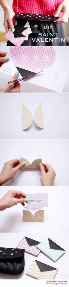Print heart enveloppe DIY // DIY enveloppes coeurs à imprimer // Blog mode et DIY Artlex