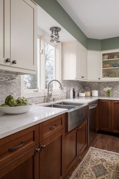Green is genuinely a beautiful color for your kitchen areas. It is dynamic as well as trendy at the exact same time. It denotes planet pleasant along with calm. #kitchencabinets #Farmhouse #Kitchen #Paintcolors #Modern #greenkitchencabinetspainted