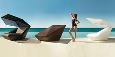 Vondom FAZ day bed designed by Ramón Esteve.