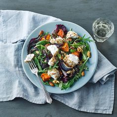 A quick and easy Warm Spiced Nut & Goats' Cheese Salad recipe, from our authentic Fusion cuisine collection. Find brilliant recipe ideas and cooking tips at Gousto Vegetarian Recipes, Cooking Recipes, Salads To Go, Diet Dinner Recipes, Spiced Nuts, Goat Cheese Salad, Cooking Instructions, Cook At Home, Kitchens