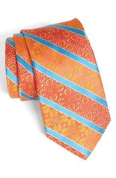 Ties for the guys - Orange & blue #wedding