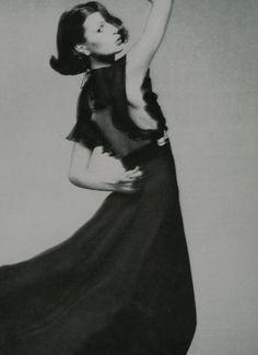 "Vogue US, September 1, 1973, ""The Modern Beat Of Fashion, Lean, Racy, Feminine"", Model Apollonia van Ravenstein, Photographer Richard Avedon"