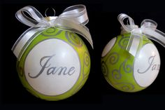 Hand painted glass ornament made to order.