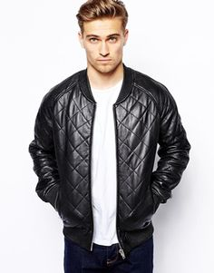Enlarge Barneys Jacket Quilted Leather Bomber