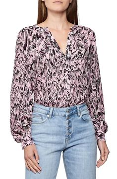 REISS GWEN FEATHER PRINT BLOUSE. #reiss #cloth Reiss Fashion, Maternity Nursing Dress, Long Sleeve Midi Dress, Feather Print, Blouse Online, Blouse Styles, Printed Blouse, Blouses For Women, Clothes