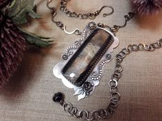 All That Jazz  Crazy Lace Agate and Sterling by wildorchidjewelry