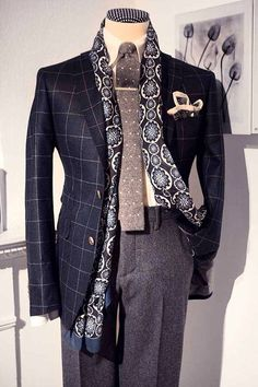 To me, the scarf is not necessary, but I LOVE the jacket and trousers