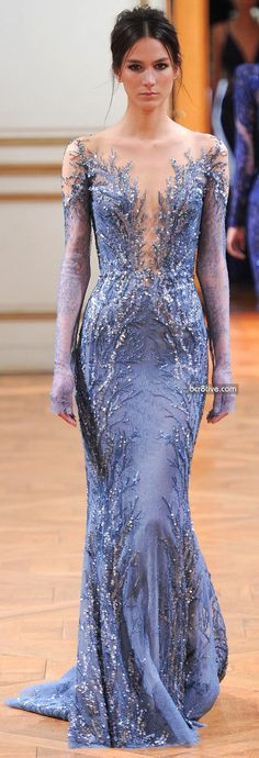 It's Elsa's dress...I'm dying.  Zuhair Murad Fall Winter 2013-14 Haute Couture Collection