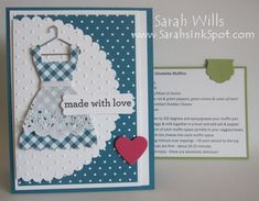 Use Dress Up Framelits to make dress, doily for apron, include pull-out recipe card.  Just different colors.