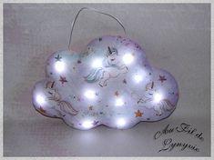 Nuage lumineuxcoussin Veilleuse décorative en forme de