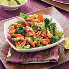 Le secret est dans la sauce gingembre et orange! Enfin une sauce sans trop de sucre ni de sodium pour rehausser les légumes et le poulet!