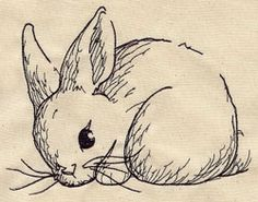 Embroidery Designs at Urban Threads - Bunny Sketch