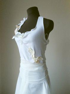 Pixie Wedding Dress Elven Boho Hippie Gown Alternative Wedding Rustic Tattered Faerie Bohemian Fairy Woodland