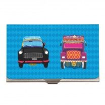 Taxi Truck Steel Card Holder by The Elephant Company