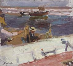 The Athenaeum - Apunte de la Playa (Joaquin Sorolla y Bastida - No dates listed)