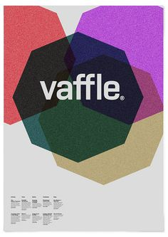 Vaffle by MARIN DSGN, via Flickr print design