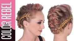la #tresse agrémentée avec color rebel #couleur #cheveux #hairstyle