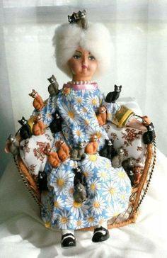 Cat lady Barbie