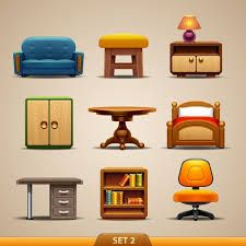 Furniture Stock Vector Illustration And Royalty Free Furniture Clipart Floor Plan Symbols, Cartoon Background, Free Fonts Download, Photoshop Brushes, Dollhouse Furniture, Icon Set, Modern Furniture, Clip Art, Flooring