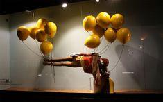   Diseño de escaparates con globos