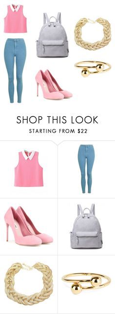 """Aurora (casual)"" by lucycanseco on Polyvore featuring Topshop, Miu Miu and J.W. Anderson"