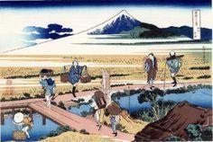 36 Views Or Mount Fuji - Katsushika Hokusai c. 1760 - 1849. This print is Additional #4/10 being an ink print made from woodblock.  Title - Nakahara in Sagami Province. Sōshū Nakahara. 相州仲原.