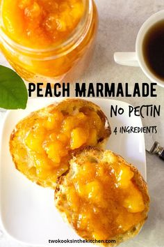Chutney Recipes, Jam Recipes, Brunch Recipes, Canning Recipes, Eat A Peach, Ripe Peach, Peach Marmalade Recipe, Peach Jam Recipe Without Pectin