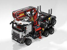 LEGO MOC MOC-5890 42043 Langholzlaster (long timber truck) - building instructions and parts list.