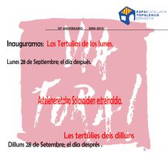 Vuelven las tertulias de los #lunes en @VIAFORAdonosti  Asteleheneko solasaldian bueltan