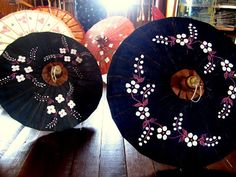 Handmade paper umbrellas from KarisAbroad's Myanmar Shopping Guide: Finding the best souvenirs in the Golden Land