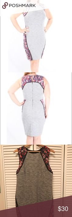 Rachel Roy Bodycon Dress size 14 Lightly worn Bodycon, cotton and poly Size (Women's) 14 Wear to Work, Shift Dress, Sheath Dress, Sheath, Stretch, Shift, Pencil Stretch, Knit Sleeveless Lighter Gray than my home pictures with Red, Blue and Pale Pink pattern Fits true to size to a little smaller RACHEL Rachel Roy Dresses