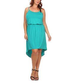 Jade Hi-Low Blouson Dress - Plus