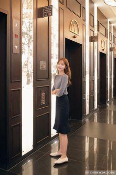 we are cherrykoko Korean Fashion Dress, Korean Street Fashion, Ulzzang Fashion, Korea Fashion, Korean Outfits, Modest Fashion, Skirt Fashion, Fashion Outfits, Modest Outfits