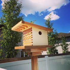 Modern birdhouse Modern Birdhouses, Unique Furniture, Decoration, Bird Houses, Building, Outdoor Decor, Design, Home Decor, Birdhouse