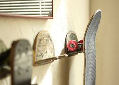 Upcycled Skateboard Board Hooks by jrydevisuals on Etsy, $20.00