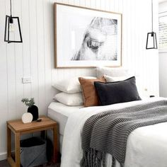 Cool 50 modern farmhouse bedroom decor ideas will make you beautiful in 2019 . - 2019 decoration - Cool 50 modern farmhouse bedroom decor ideas will make you beautiful in 2019 … - Scandinavian Bedroom Decor, Home Decor Bedroom, Living Room Decor, Bedroom Wall, Bedroom Furniture, Diy Bedroom, Budget Bedroom, Master Bedrooms, Furniture Ideas