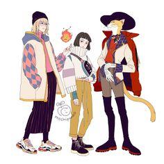 Ghibli fashion - Howl, Haku & the Baron (Studio Ghibli) (Hayao Miyazaki) Anime Movie Hayao Miyazaki, Howl's Moving Castle, Studio Ghibli Art, Studio Ghibli Movies, Studio Ghibli Characters, Studio Art, Totoro, Manga Anime, Anime Art