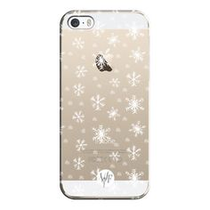 iPhone 6 Plus/6/5/5s/5c Case - Let It Snow - Transparent - Watercolour... ($35) ❤ liked on Polyvore featuring accessories, tech accessories, phones, iphone case, apple iphone cases, iphone cover case and transparent iphone case