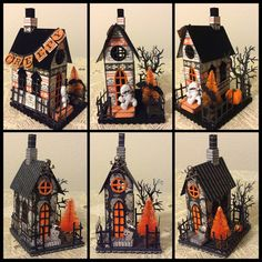 Isa Creative Musings: Old House Vintage Market - September 2016 Retro Halloween, Casa Halloween, Halloween Fairy, Halloween Village, Halloween Haunted Houses, Holidays Halloween, Halloween Stuff, Halloween Paper Crafts, 3d Paper Crafts