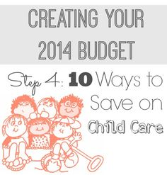 Childcare is something you may need to consider in your budget. Here are 10 ways to save on child care. Frugal Living.